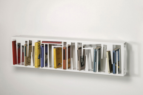 davide, radaelli, design, bookshape, metal, bookshelf