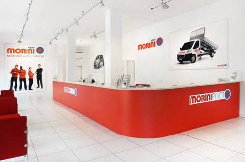 MoriniRent, filiale, interiordesign, store, car, rental
