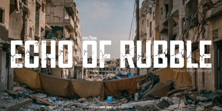 Echo of Rubble, Post-war debris, product design competition, davide radaelli, design, industrial design, jury member